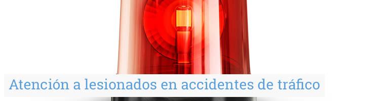 Atención a lesionados en accidentes de tráfico