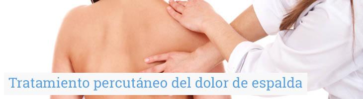 Tratamiento percutáneo del dolor de espalda