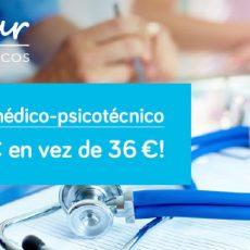 Certificado médico-psicotécnico por 16,90 € en vez de 36 €